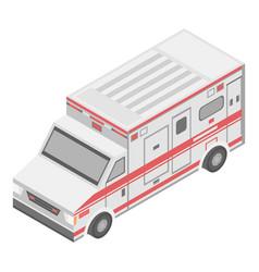 Medical reanimation ambulance icon isometric vector