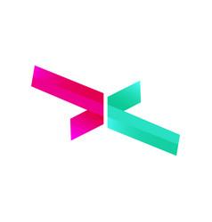 modern cross logo design vector image