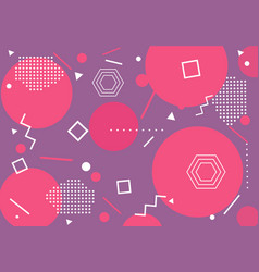 Modern pink geometrical pattern background vector