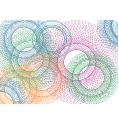 Modern tech spirograph background vector