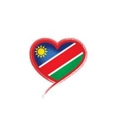 Namibia flag on a white vector