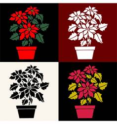 Poinsettias vector