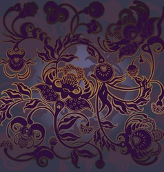 Purple flowers vector