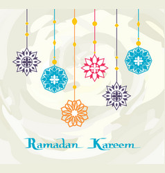 ramadan kareem white background premium design vector image
