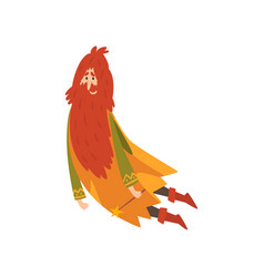 Redhead bearded sorcerer wizard character vector