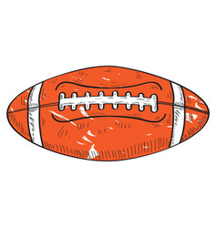 retro football ball vector image