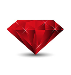 ruby isolated on a white background vector image