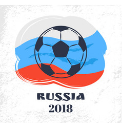 russia flag headline poster vector image