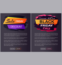 Sale black friday discounts advert banners text vector