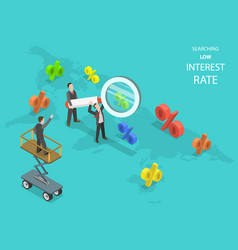 searching low interest rate flat isometric vector image