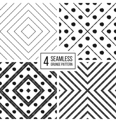 Set of geometric seamless pattern diagonal lines vector image