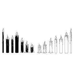 silhouette candles vector image