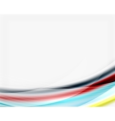 Smooth colorful line on white Wave abstract vector image