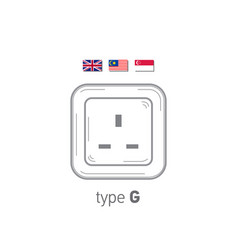 Sockets icon type g ac power sockets realistic vector