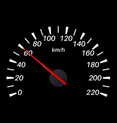 Speedometer 60 km per hour vector