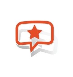 Star message sticker orange vector