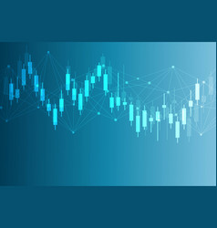 stock market or forex trading graph chart in vector image