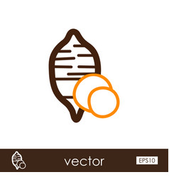 Sweet potato outline icon batata vegetable vector