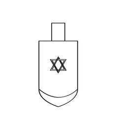 Traditional jewish dreidel vector