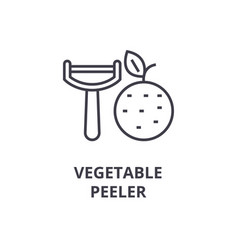 Vegetable peeler line icon outline sign linear vector