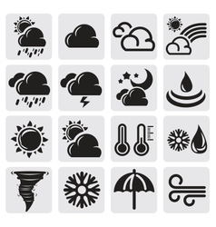weather set vector image