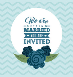 Wedding invitation icon desig vector