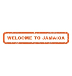 Welcome To Jamaica Rubber Stamp vector image