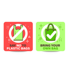 word cloth bag signage with bring your own bag vector image