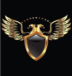 Gold Eagle shield vector image