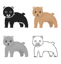 bear icon cartoon singe animal icon from the big vector image