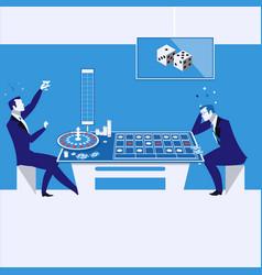 casino gambling concept in vector image