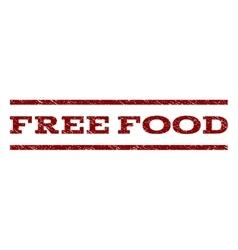 Free Food Watermark Stamp vector image vector image