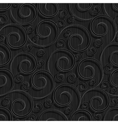 seamless black floral wallpaper pattern vector image