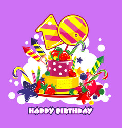 birthday cake number vector image
