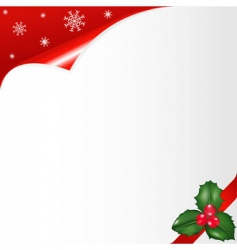 christmas notepaper vector image