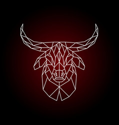 geometrical head of a bull vector image vector image