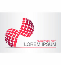 logo stylized spherical surface vector image