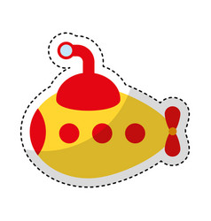 submarine transport isolated icon vector image
