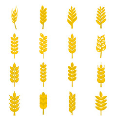 ear corn icons set in flat style vector image