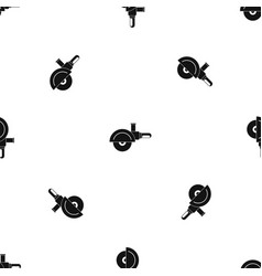 high speed cut off machine pattern seamless black vector image vector image