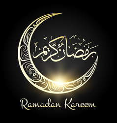 ramadan kareem religious night moon background vector image
