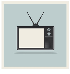 Retro Background CRT TV Set Vintage vector image vector image
