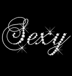 Sexy word with diamonds bling vector