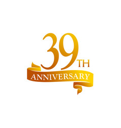 39 year ribbon anniversary vector image
