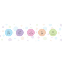 5 certified icons vector