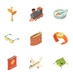 above the world icons set isometric style vector image