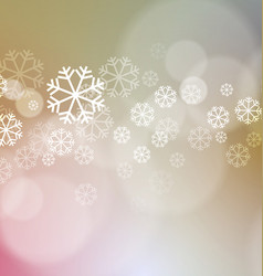 Abstract christmas lights with snowflakes vector