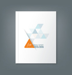 Annual report book cover design vector
