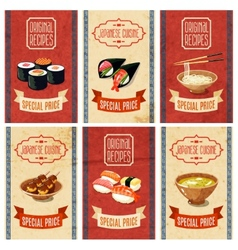 Asian food banners vector