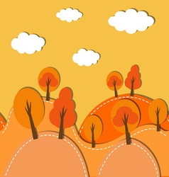 autumn forest background vector image